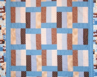 Puppy Dog Quilt 52 x 44 inches, handmade in USA heirloom quilt