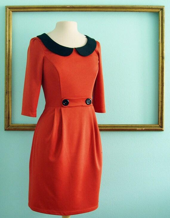 peter pan collar dress with matching coat- custom for LIZA - first deposit