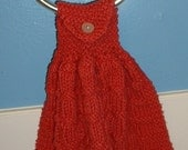 Country Red Hanging Towels