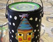 Birthday Bucket - Original Hand Painted Birthday Bucket- Filled with Art Supplies
