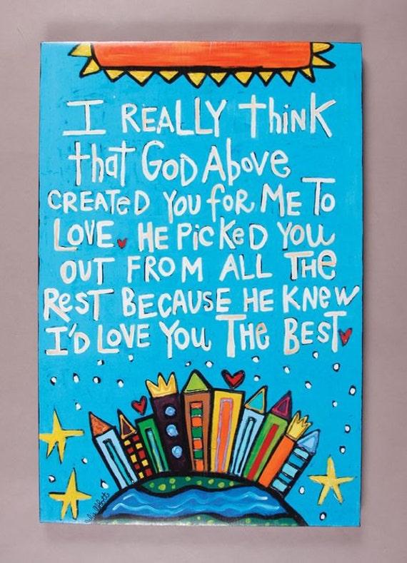 God Above- Art Canvas