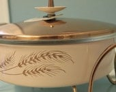 RESERVED: Mid-Century Pink Pyrex Server with Copper Lid