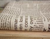 Unique Linen Collection - Chic Newspaper, Dark Brown (Fat Quarter)