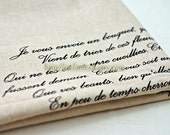 LAST Piece-Unique Linen Collection-Vintage Love Letter (23x24 inches)