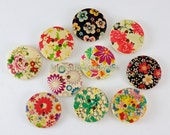 Wooden Buttons -Natural Collection, Small (C) (10 in a set)