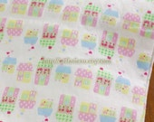 2015 SALE CLEARANCE Lovely Chic Polka Dots and Checks Houses- Double Layer Knit Cotton Fabric (1/2 Yard, 17.7x59 Inches)