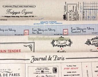 Unique Linen Collection-Retro Looking Origami Graph Paper, Paris Recipe, Vintage Labels and Stamps (4 Cuts, Choose Your Color)