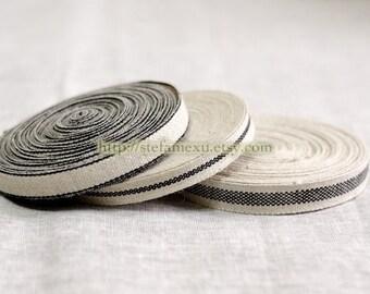 Natural Sewing Tape/Ribbon - Simple Black (1 Yard, Choose One pattern)