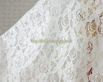 Romantic Rose Floral-Japanese Lace Fabric (1/2 Yard)