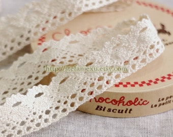 Cotton Crochet Lace - Spindle In Off White (W2.5cm, 1 Yard)
