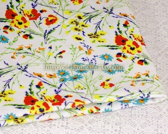 SALE Clearance, Last Piece -Waterproof PVC Fabric-Colorful Spring Floral Garden (Fat Quarter)