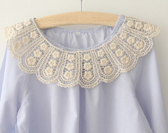 Sewing Supplies, Findings - Beautiful Bobbin Victorian Floral Ivory Lace Collar