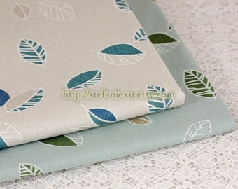 SALE Clearance 1/2 Yard Home Decor Japanese Waterproof PVC Table Cloth Fabric-Chic Leaf Leaves, Choose Color