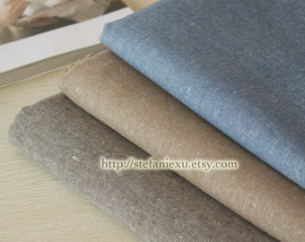 Solid Fabric(Retro Color), Khaki-Japanese Dyed Cotton Linen Blended Fabric (1/2 Meter)
