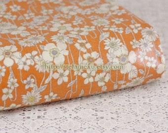 SALE Clearance 1 Yard Shabby Chic Beautiful White Daisy Flower Garden - Japanese Waterproof PVC Fabric (1 Yard, 35.4x41 Inches)