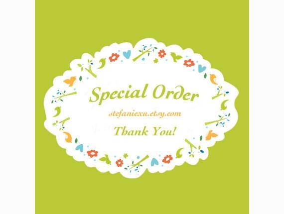 Special order for  GirlsLoveBagsuk