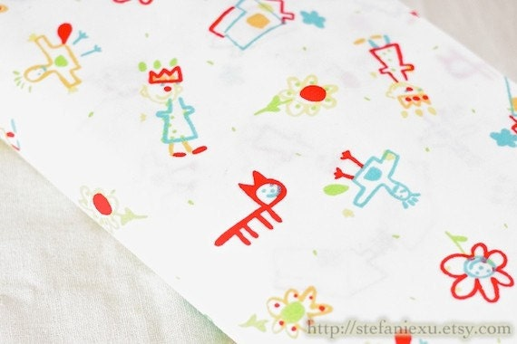 SALE-Little Prince's Drawing and Sketch Book-Cotton Fabric (1/2 Meter)