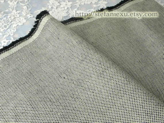 Solid, Simple Grey Black - Japanese Dyed Cotton Canvas Fabric (Fat Quarter)