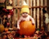 candy corn hat cotton NEWBORN - ready to ship