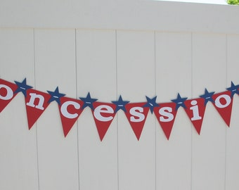 Concessions Baseball Party Banner - Ready to Ship