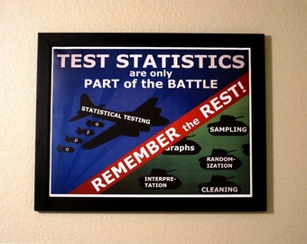 Statistics Propaganda Poster - Test Statistics are only Part of the Battle