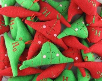 Set of 15 Mini Normal Distribution Plush Ornaments