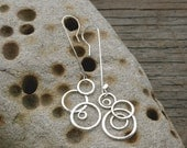 Mass Moons handmade hammered sterling silver earrings
