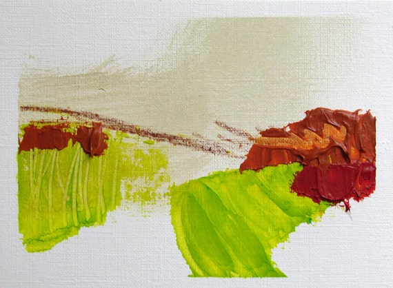 """Textured Colorful Abstract Painting, 4.5 x 6 original fine art -- """"Painting 170"""" -- acrylic painting on paper"""