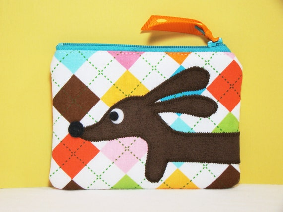 Dachshund Coin Purse - Doxie Awesome Argyle
