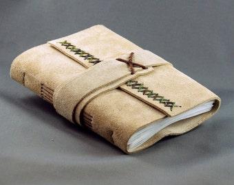 Handmade Leather Journal Sketchbook, Medium Size