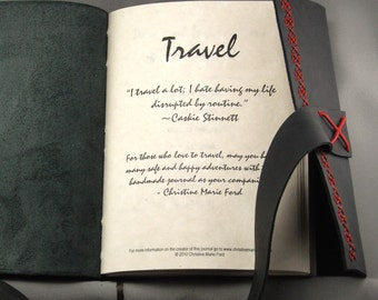 Custom Travel Journal for the Adventurous Soul