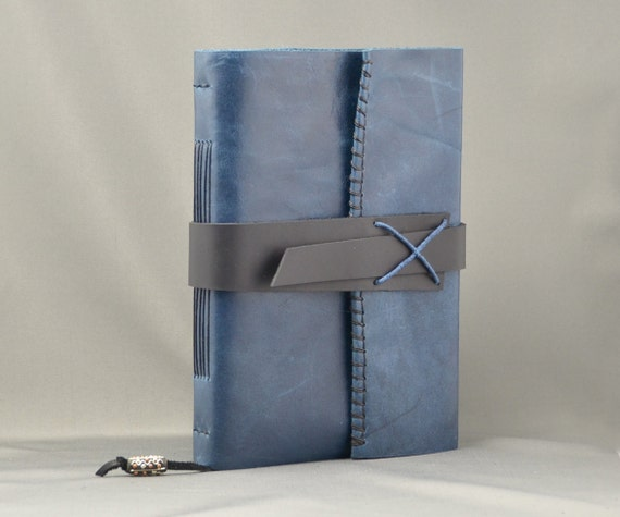 Handmade Leather Journal with Parchment Paper Large Size