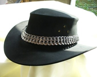 Hat Band of Recycled Pop Tabs