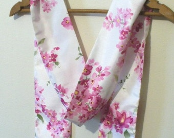 Blooming Pink Wisteria Scarf