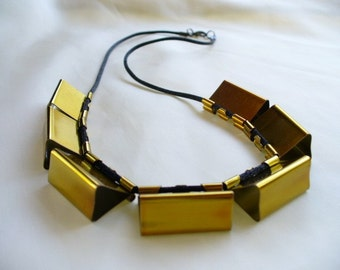 Recycled Gold Binder Clip Necklace