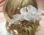 Aurora Borealis glitter bridal comb
