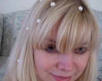 Floating hair pearls set of 10 wedding bridal prom hair jewelry