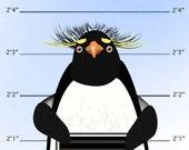 Penguin mugshot print - 8 x 10