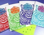 Happy New Year Cards - Fluffy Cat 12-Pack