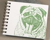 Mini Journal - Sage Green Pug
