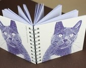 Mini Journal - Purple Kitty