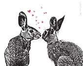 Pair o' Hares - Limited Edition 8x10 Art Print