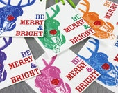 FuzzyMug Merry and Bright Holiday Gift Tags