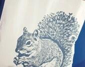 Super Squirrel Tote Bag in Gray