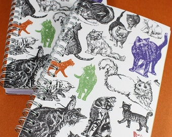 Classic Cat Patterned Journal