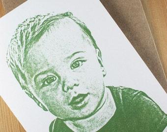 Not So FuzzyMug - Child / Baby Custom Note Cards