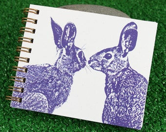 Mini Journal - Pair of PURPLE Hares