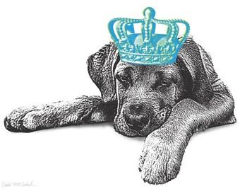Pet Royalty - 11x14 Custom Pet Portrait with a CROWN