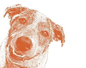 CUSTOM PET PORTRAIT - 11 X 14 inches - Dog, Cat, Rabbit, Art