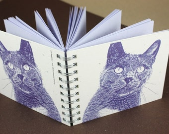 Mini Journal - Purple Kitty